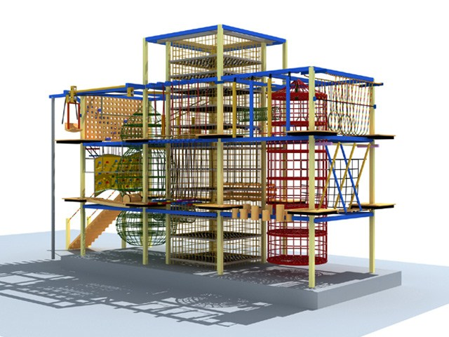 Indoor Ropes Course for FEC