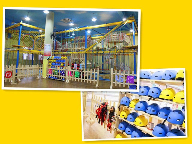 Indoor High Ropes Challenge Course & Rock Climbing