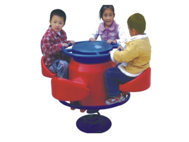 Classical Four Station Fun Filled Plastic Merry Go Round