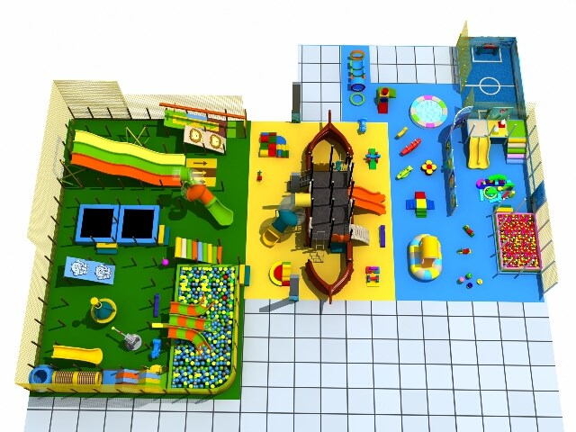 Commercial Indoor Playground Structure & Soft Play Equipment