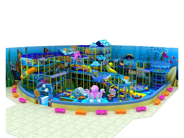 Large Shopping Center Soft Indoor Playground Design with Under the Sea Theme