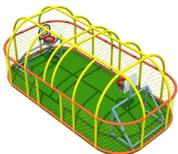 Indoor Kids Soccerball Basketable Combined Area Design