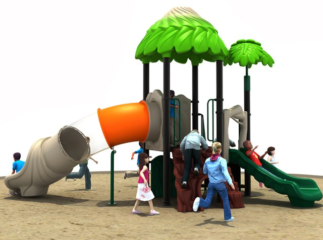 Smaller Jungle Outdoor Slide Children Amusements Park Set