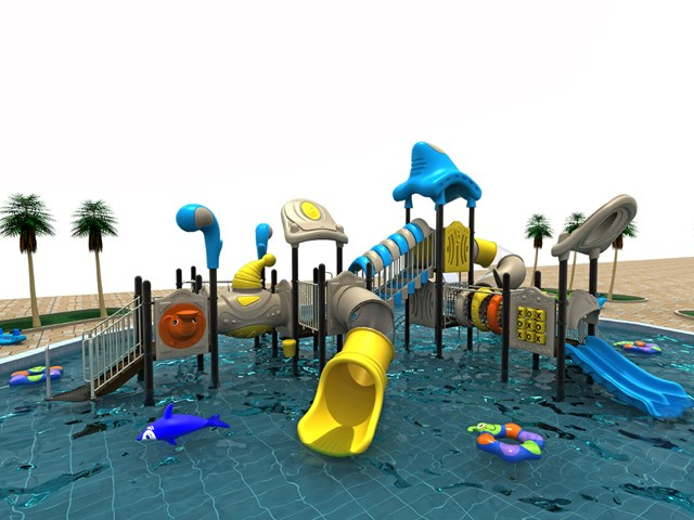 Outdoor Swimming Pool Slide Happy Land