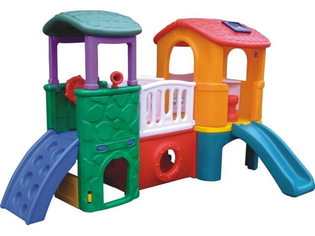 Hot Selling Kids Plastic Playground Tower & Slide Set for Restaurant