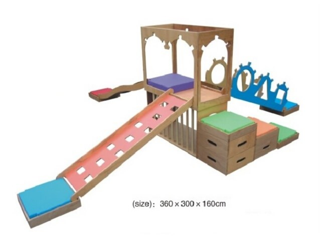 Indoor Wooden Play Tower Sets