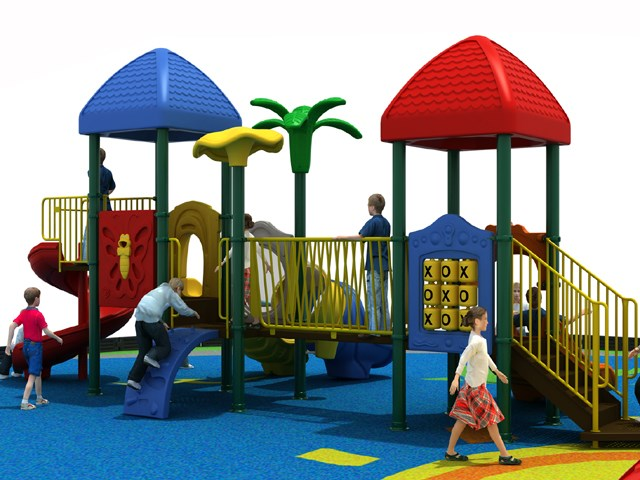 Classical Cheaper Open-air Playground Blue and Red