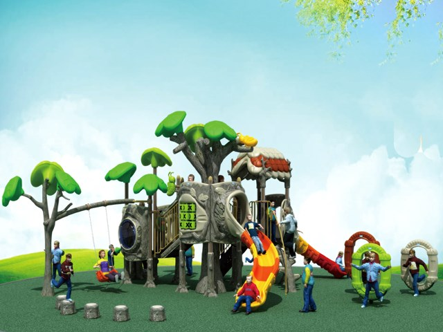 Forest Children Playground New Style Emulational Tree Playland