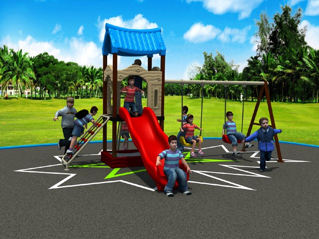 Multifunction small playground Outdoor Recreation Facility