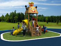 Small Wooden Playground Kids' Happy Zone