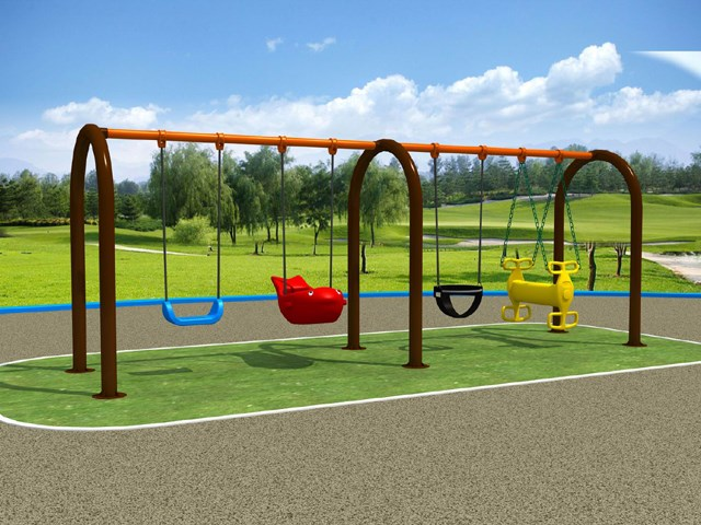 4 Seats U Swing Frame for Children Play Park