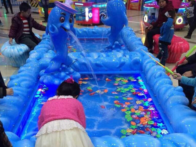 Kids Fish Pond Interactive Play Equipment