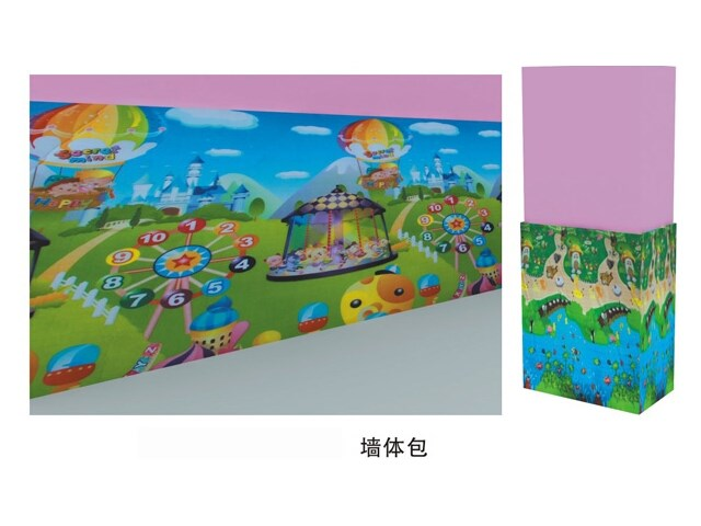 Cartoon Safety Foam Wall Mural with Sticker Easy Assembly
