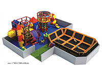 Jumping Trampoline Structure for Kids Indoor Amusement Park