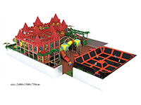 Large-scale Trampoline Games & Castle Theming Indoor Playground