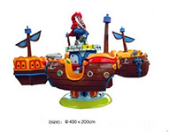 Merry Go Round Pirate Ship Up Down Waving with 8 seat