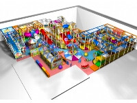 Large-scale Indoor Soft Modular Play Systems for Commercial Venues