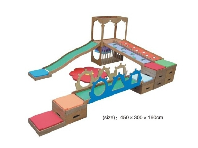 Children Wooden & Soft Combined Play Center for Daycare