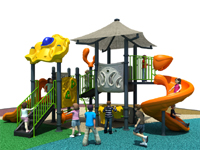 Anti-UV Canvas Roof Outdoor Playground Equipment