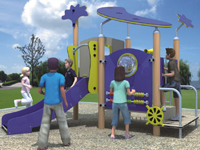 Latest HDPE Kids Playland Slide