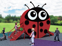 Ladybird Outdoor Imported PE Board Playground