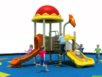 Small Area Outdoor Slide Playset