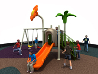 Small Outdoor Happy Land Zone Playground Equipment With Swing