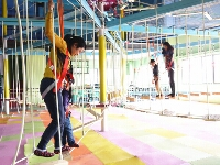 Low Rope Course for Indoor Playroom