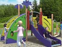 Daycare Center Wooden Playground Station Sets