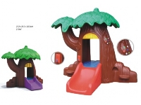 Classic Tree Play House Slide
