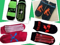 Custom Design Trampoline Socks for Men, Ladies and Kids