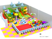 Kids Castle-themed Indoor Fun Play Structure