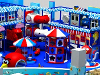 Popular Design with Under the Sea Topic Indoor Soft Multi-Play Ground System for Children