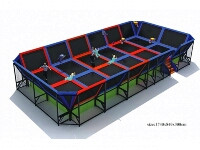 Dodge ball Trampoline Park for Kids Jumping Center