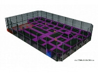 Indoor Trampoline Park with Fence and Tent for Children & Adults
