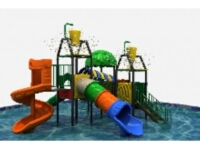 Kids Water Park Slide with Water Fountain Systems