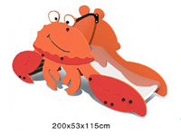 PE HDPE animal crab stainless steel Slide for kids