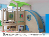 Indoor Wood wooden Circular Parents-child Game Room Slide