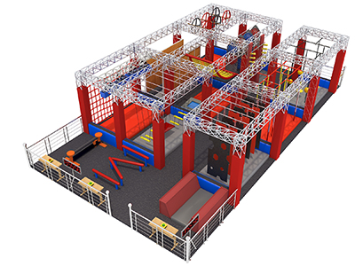 Ninja Warrior Obstacle Course Amusement Park / Indoor Ninja Warrior Trampoline Park for kids